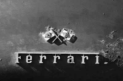 Photograph - Ferrari Emblem by Jill Reger