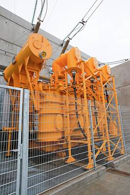 Electric Pylon Photograph - Fljotsdalur Hydro Power Station by Ashley Cooper