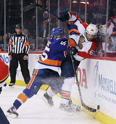 Photograph - Florida Panthers V New York Islanders - by Bruce Bennett