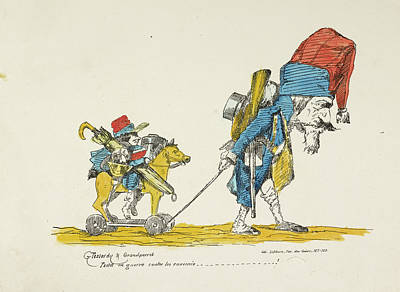 French Caricature Print by British Library