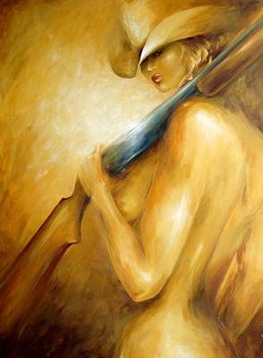 Art Print featuring the painting 12 Gauge by Dina Dargo