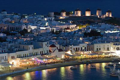 Nightlife Photograph - Greece, Mykonos, Hora by Jaynes Gallery