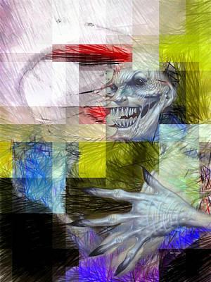 Digital Art - Halloween Mask by Rafael Salazar