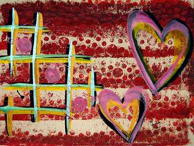 Painting - Heart And Grid by Richard Sean Manning