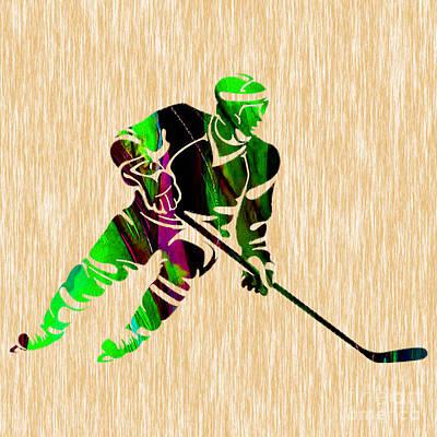 Hockey Art Print by Marvin Blaine