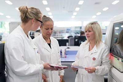 Biologist Photograph - Hospital Pathology Lab by Aberration Films Ltd