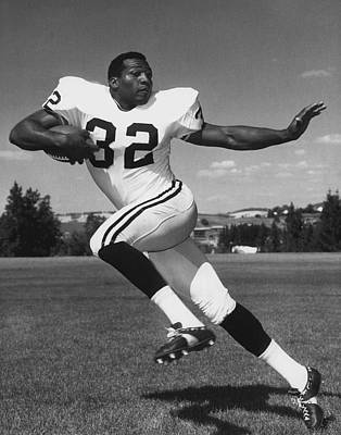 American Football Photograph - Jim Brown by Retro Images Archive