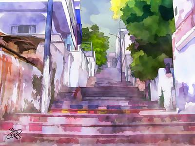 River Jordan Digital Art - Jordan/amman/stairs by Fayez Alshrouf