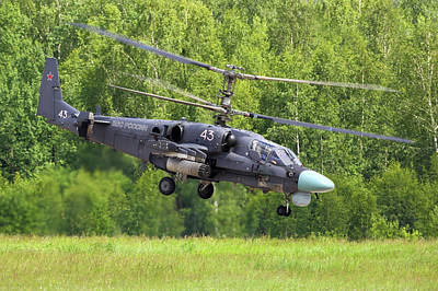 Photograph - Ka-52 Alligator Attack Helicopter by Artyom Anikeev