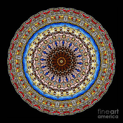 Cross Photograph - Kaleidoscope Stained Glass Window Series by Amy Cicconi