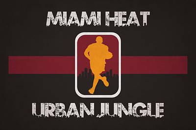 Miami Heat Art Print by Joe Hamilton