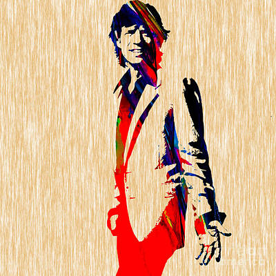 Mick Mixed Media - Mick Jagger by Marvin Blaine