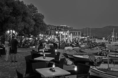 Twilight Photograph - Molyvos Village by George Atsametakis