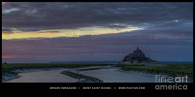 Photograph - Mont Saint Michel by Jorgen Norgaard