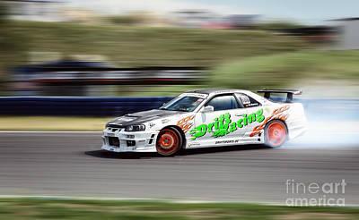 Jdm Photograph - Nissan Drift by Martin Slotta