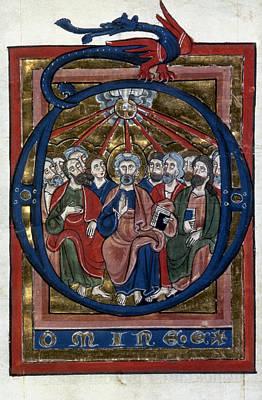 Psalter Painting - Pentecost by Granger