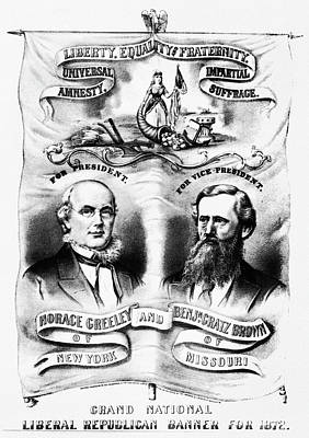 Democratic Party Painting - Presidential Campaign, 1872 by Granger
