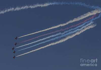 Red Arrows Art Print by J Biggadike