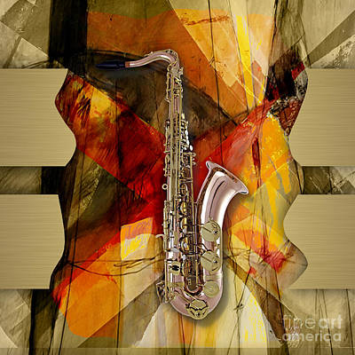 Saxophone Mixed Media - Saxophone Collection by Marvin Blaine