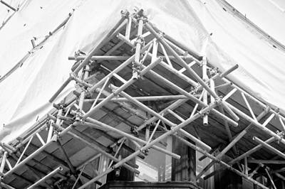 Foreign Photograph - Scaffolding by Tom Gowanlock