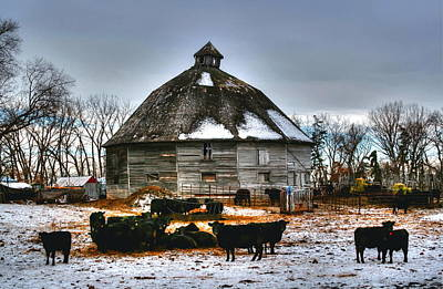 Print featuring the photograph 12 Sided Barn by Larry Trupp