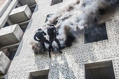 Photograph - Spec Ops Police Officers Swat by Oleg Zabielin