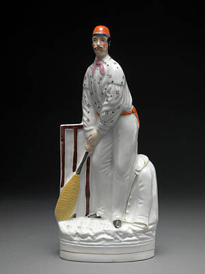 ß12 Sporting Art 300235507 Ceramic Cricketers - A Pair Art Print by Litz Collection