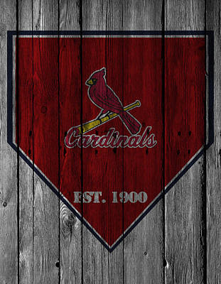 Greetings Card Photograph - St Louis Cardinals by Joe Hamilton