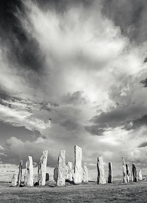 Grey Clouds Photograph - Standing Stones Of Callanish by Martin Zwick