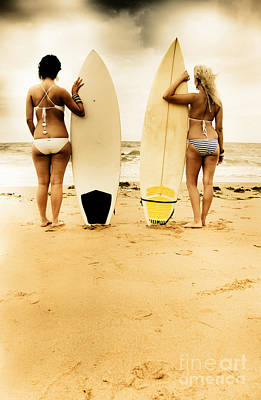 Female Surfer Photograph - Summer by Jorgo Photography - Wall Art Gallery
