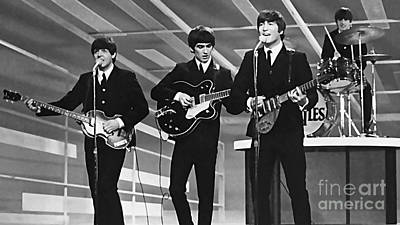 Digital Art - The Beatles  by Marvin Blaine