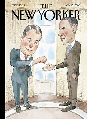 Whitehouse Wall Art - Painting - New Yorker November 15th, 2010 by Barry Blitt