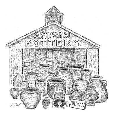 Ceramics Drawing - Artisanal Pottery by Edward Koren