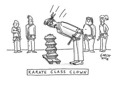 Karate Class Clown Art Print