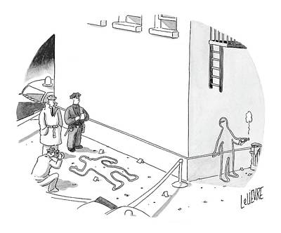 Police Art Drawing - New Yorker December 20th, 2004 by Glen Le Lievre