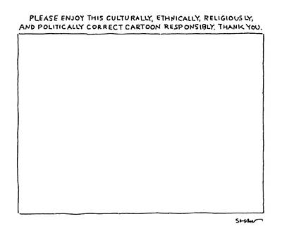 Cartoon Drawing - New Yorker February 27th, 2006 by Michael Shaw