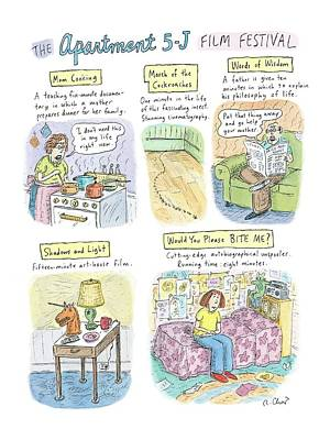 Festival Drawing - New Yorker September 18th, 2006 by Roz Chast