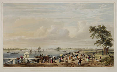 Views Of Calcutta And Its Environs Art Print by British Library