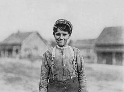 1908 Photograph - 12 Year Old Mill Worker by Aged Pixel