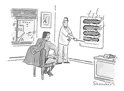 X-ray Drawing - New Yorker June 12th, 2000 by Danny Shanahan
