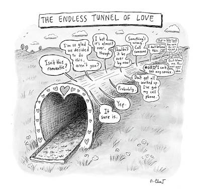 Bad Relationship Drawing - New Yorker March 31st, 2008 by Roz Chast