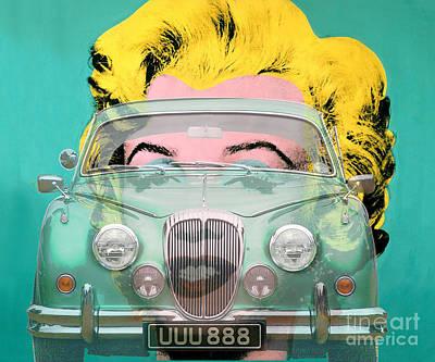 Digital Art - 120603 Bluechip Daimler V8 Verde Warhol Tribute by BlueChip Luigi Gallone