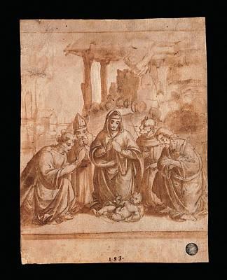 Italy, Veneto, Venice, Accademia Art Art Print