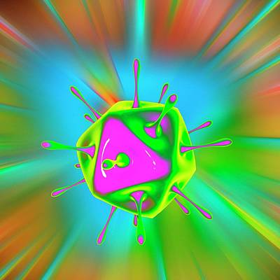Bright Colours Photograph - Virus by Mehau Kulyk