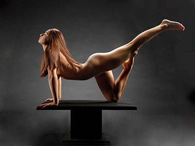 Photograph - 1226 Woman Nude On Platform by Chris Maher