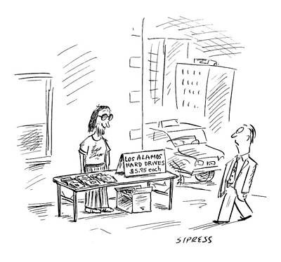 Espionage Drawing - New Yorker July 3rd, 2000 by David Sipress