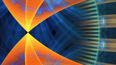 Generative Digital Art - 1240 by Lar Matre