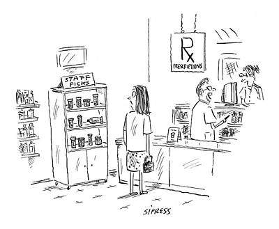 David Drawing - New Yorker August 23rd, 2004 by David Sipress