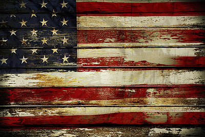 Democracy Photograph - American Flag by Les Cunliffe