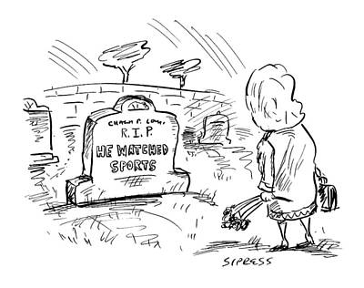 Cemetery Drawing - Untitled by David Sipress